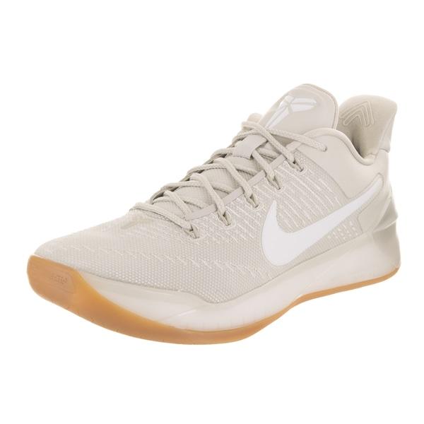 a864c123bff1 Shop Nike Men s Kobe A.D. Beige Leather Basketball Shoes - Free ...