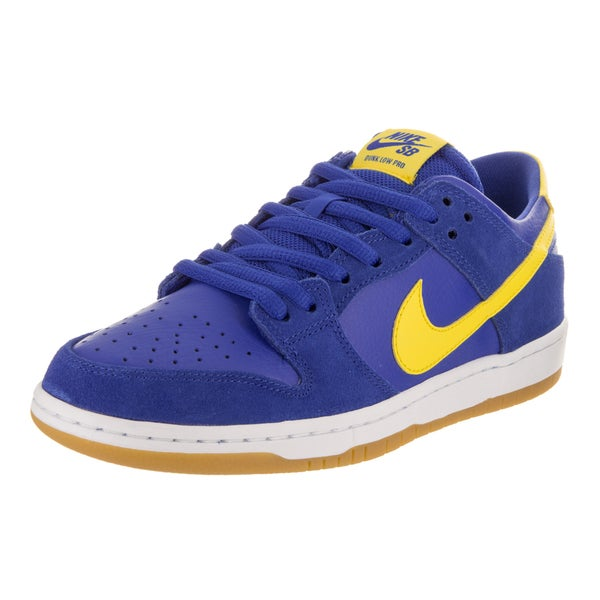 0a80beafb69 Shop Nike Men s SB Zoom Dunk Low Pro Blue Leather Skate Shoes - Free ...