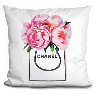 Amanda Greenwood 'Shopper Pink Peonies, Throw Pillow