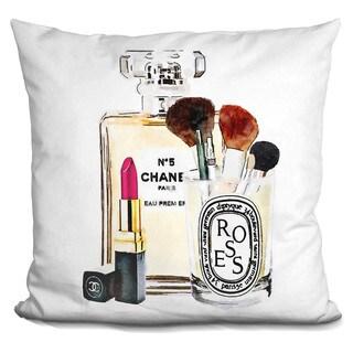 Amanda Greenwood 'Makeup Sation, Throw Pillow