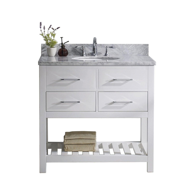 Virtu USA Caroline Estate 36-inch Italian Carrara White M...