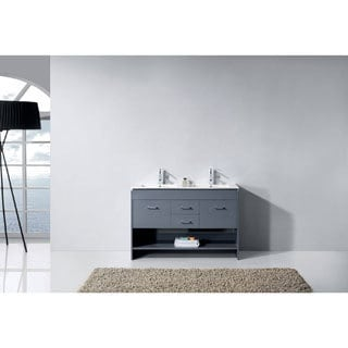 Virtu USA Gloria 48-inch Square Double Bathroom Vanity Set with Top Options and without Mirror