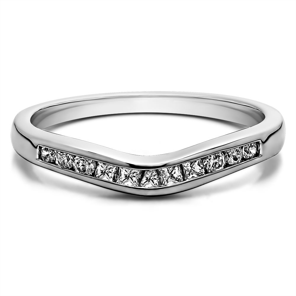 TwoBirch Sterling Silver Classic Style Gently Contoured W...