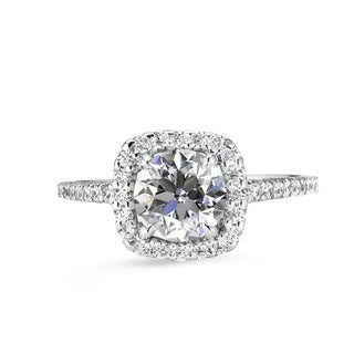 Lihara and Co. 18K White Gold and 0.30ct TDW Semi-Mount Diamond Engagement Ring (G-H, VS1-VS2)