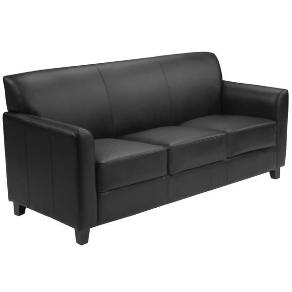 Remarkable Benville Modern Black Leather Sofa Forskolin Free Trial Chair Design Images Forskolin Free Trialorg