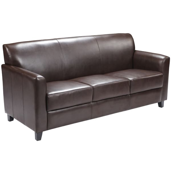 Benville Modern Brown Leather Sofa
