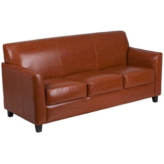 Benville Modern Cognac Leather Sofa