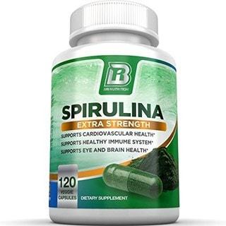 BRI Nutrition Spirulina 2000mg Maximum Strength Supplement (120 Capsules)