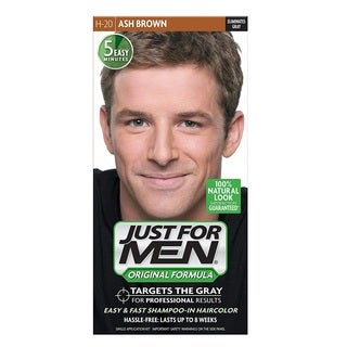 Just Men's Shampoo-in Hair Color Ash Brown H-20