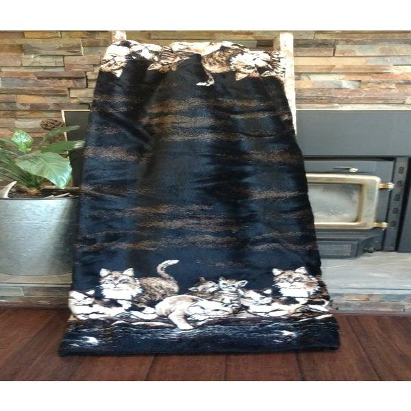 Mazmania Cats Microplush Blanket Throw