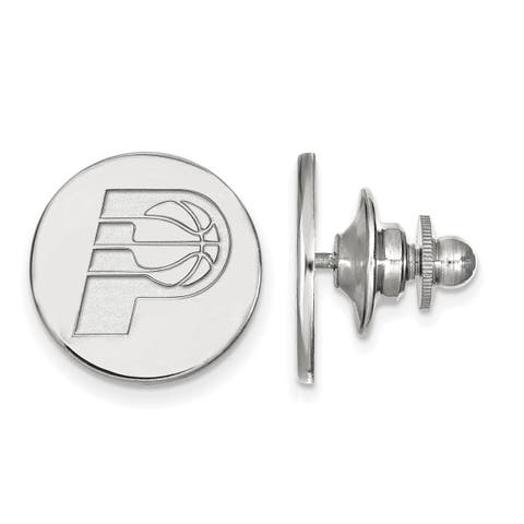 Versil Sterling Silver NBA LogoArt Indiana Pacers Lapel Pin