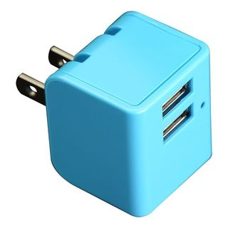 Insten 12W Dual USB Wall AC Travel Charger Adapter with Foldable Wall Prong
