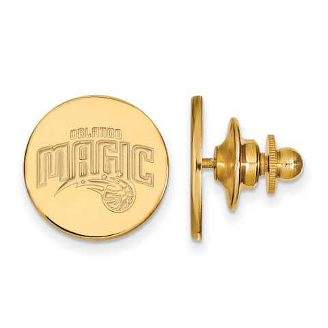 Versil Sterling Silver With Gold Plating NBA LogoArt Orlando Magic Lapel Pin