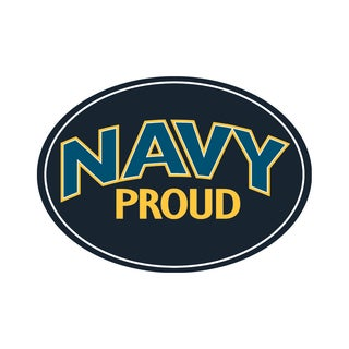 Proud Navy Magnet For Car or Home