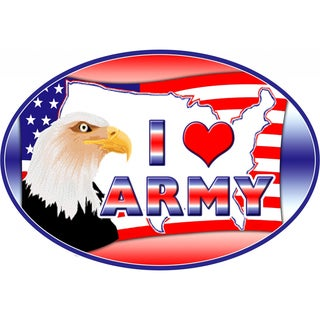 I Love Army Magnet For Car or Home