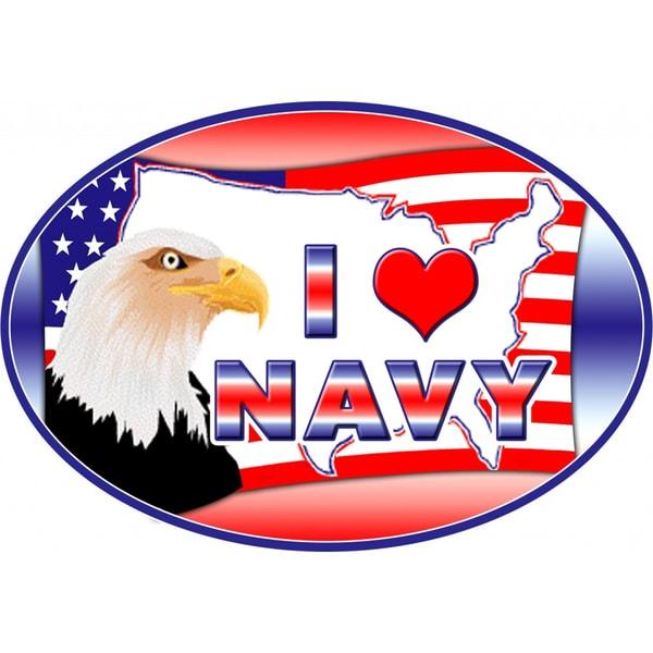 I Love Navy Magnet For Car or Home