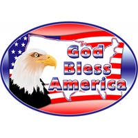 God Bless America Magnet For Car or Home