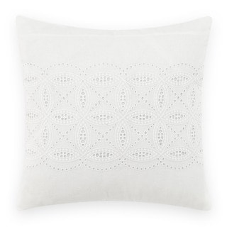 Laura Ashley Annabella White Square 16 inch Pillow