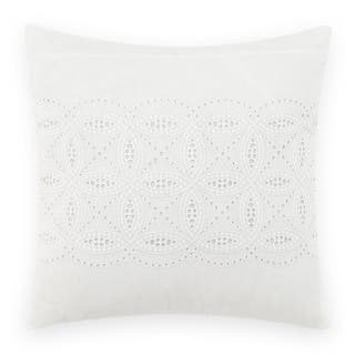 Laura Ashley Annabella White Square 16 inch Pillow|https://ak1.ostkcdn.com/images/products/15970139/P22367247.jpg?impolicy=medium