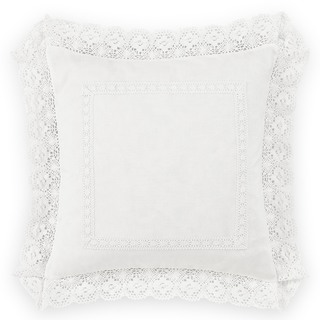 Laura Ashley Annabella White 18-inch Decorative Pillow
