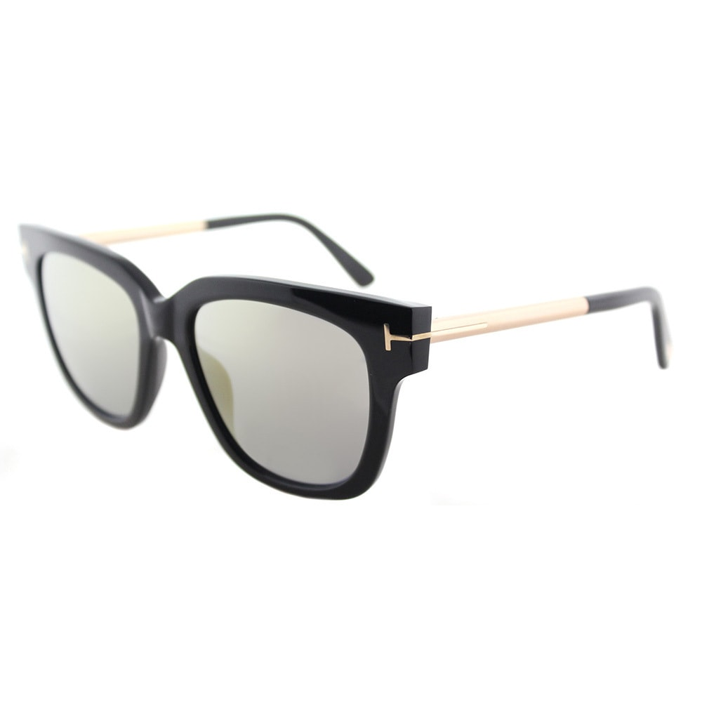 Tom Ford Square Sunglasses TF436 Tracy 01C Black//Gold 53mm FT0436