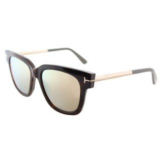 Tom Ford TF 436 56G Tracy Havana Plastic Square Sunglasses with Pink Mirror  Lens