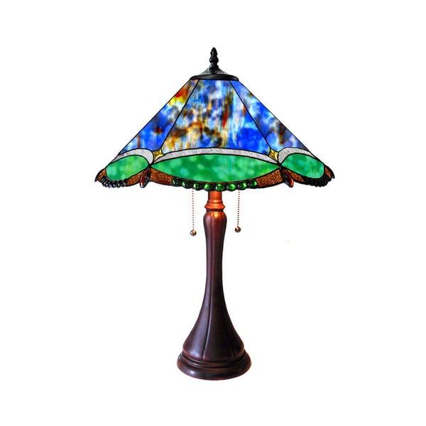 Chloe Amphitrite Collection Tiffany Style Victorian Design 2-light Dark Antique Bronze Table Lamp