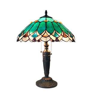 Chloe Demeter Collection Tiffany Style 2-light Dark Antique Bronze Table Lamp