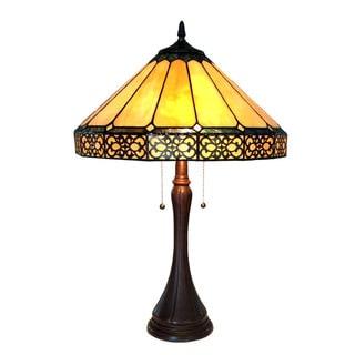 Chloe Eleanor Collection Tiffany Style Mission Design 2-light Dark Antique Bronze Table Lamp