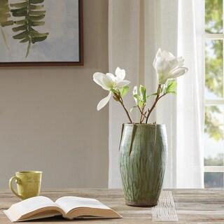 Madison Park Regency Green Handmade Ceramic Vase - Medium