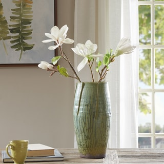 Madison Park Regency Green Handmade Ceramic Vase - Large