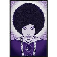 'Prince' Floater Framed Painting Print on Canvas - Purple