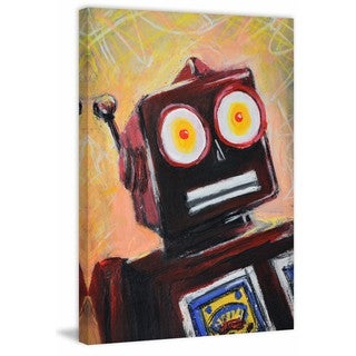 'Surprise Robot' Painting Print on Wrapped Canvas