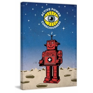 'APC Robot' Painting Print on Wrapped Canvas