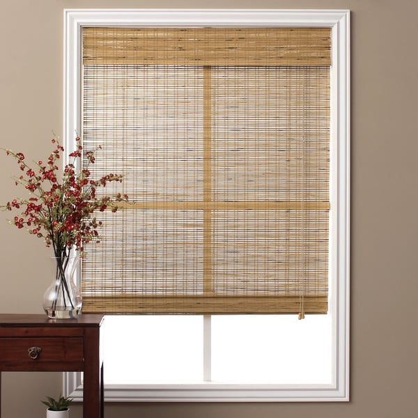 Shop Arlo Blinds Tuscan Bamboo 74 Inch Long Roman Shade
