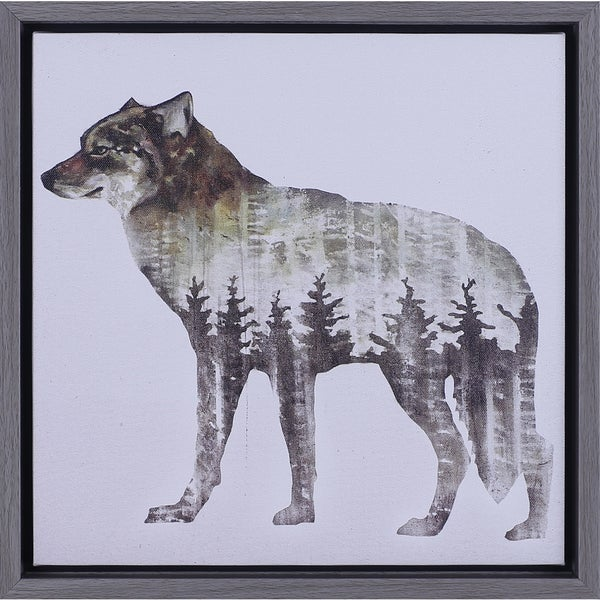 13.5X13.5 Wolf, Framed Art