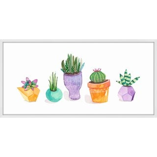 Succulent Display II' Framed Painting Print