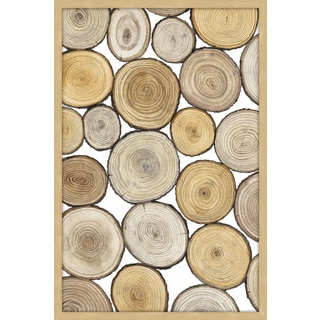 Tree Ring Study I' Framed Painting Print