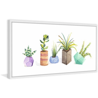Succulent Display I' Framed Painting Print