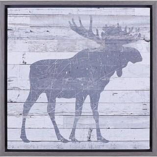 Hobbitholeco 'Moose' 15.75 x 15.75-inch Framed Art