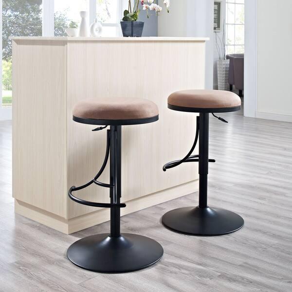 Astonishing Shop Jasper Black Metal Backless Bar Stool With Brown Andrewgaddart Wooden Chair Designs For Living Room Andrewgaddartcom