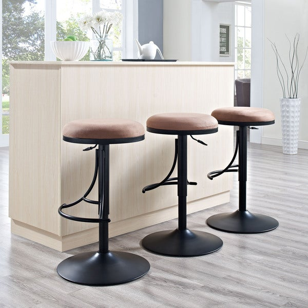 Shop Crosley Furniture Jasper Black Metal Backless Bar