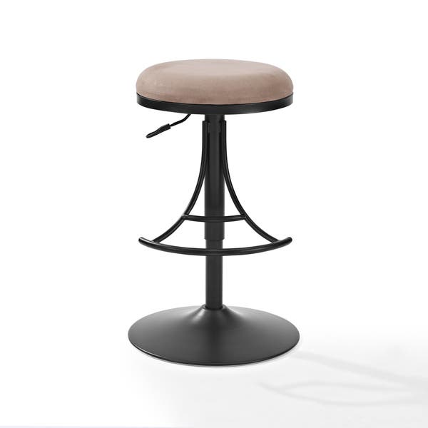 Amazing Shop Jasper Black Metal Backless Bar Stool With Brown Andrewgaddart Wooden Chair Designs For Living Room Andrewgaddartcom