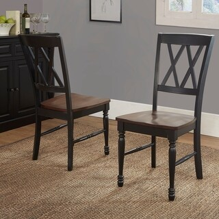 Crosley Furniture Shelby Black Rubberwood Dining Chair (Set of 2)