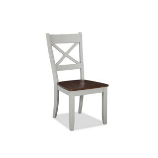 Intercon Small Spaces Cherry and Gray X-back Dining Chair -2pack