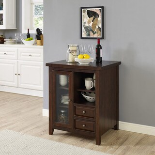 Sienna Accent Cabinet in Rustic Mahogany