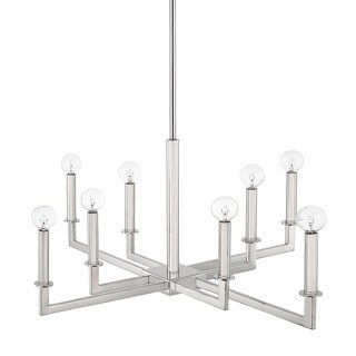 Capital Lighting City Collection 8-light Polished Nickel Chandelier