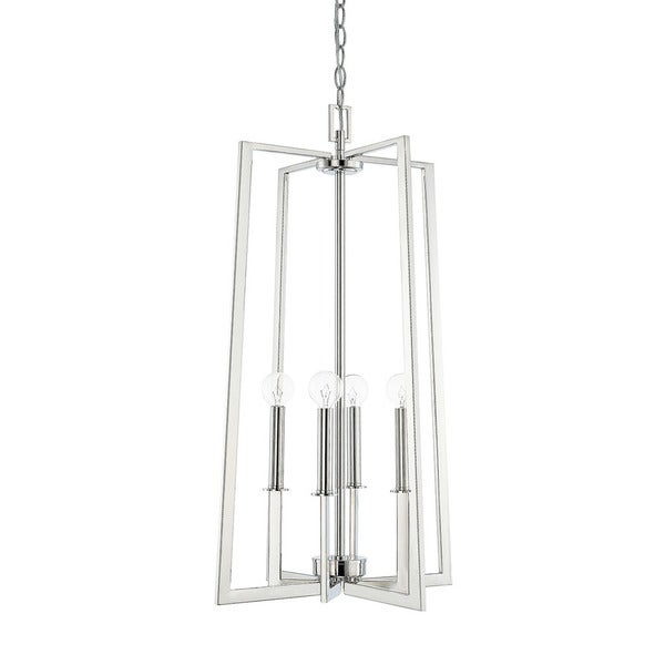 Capital Lighting City Collection 4-light Polished Nickel Foyer Pendant