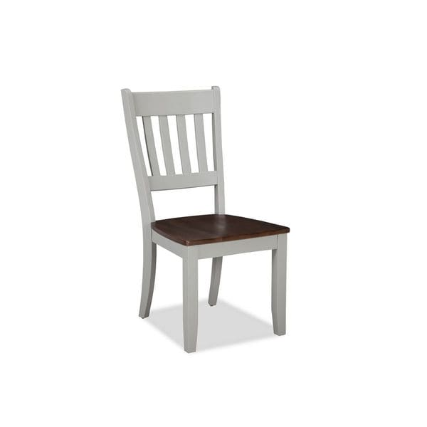 Shop Small Spaces Cherry And Gray Slat Back Dining Chair