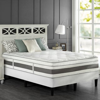 Priage 14-inch Queen-size Pocketed Coil and Gel Memory Foam Hybrid Mattress